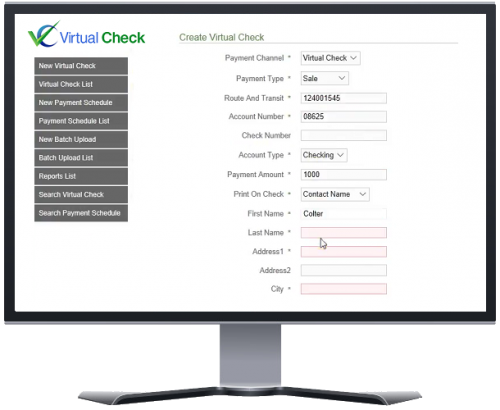 Payzang Virtual Check